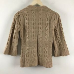 Anthropologie Sweaters - Anthropologie Lia Molly Cableknit Cardigan
